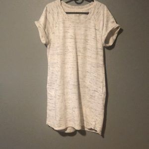 White and Heather grey sweater dress